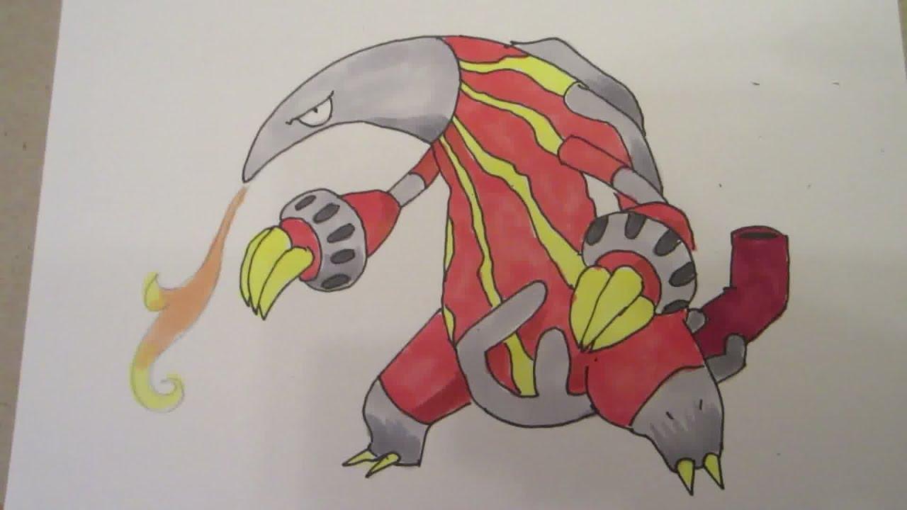 How to draw Pokemon: No.631 Heatmor - YouTube for Heatmor Pokemon  113cpg