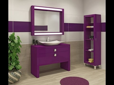 Bathroom cabinets youtube for Bathroom ideas violet