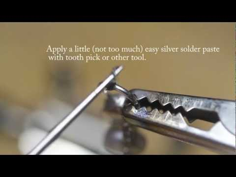 How to solder a sterling silver jump ring up close look