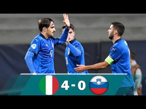 Italy U21 vs Slovenia U21 4-0 Highlights & All Goals - Euro U21 2021