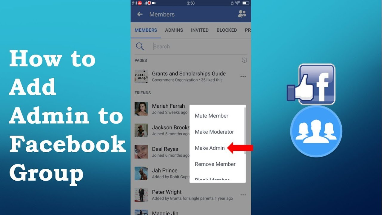 How to Add Admin to Facebook Group On Mobile 2019 on Mobile | Mobile App