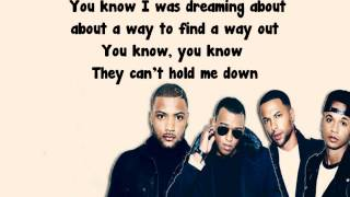 JLS -Hold Me Down Lyrics *FULL SONG*