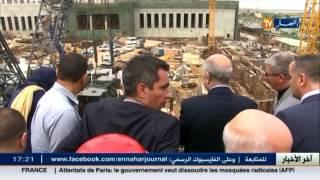 وزير السكن تبون يقف على تقدم مشروع الجامع الكبير