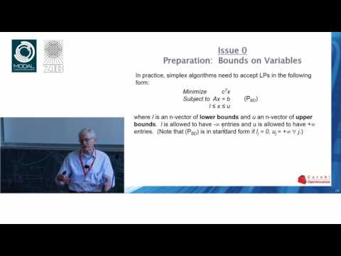 Robert Bixby: Solving Linear Programs: The Dual Simplex Algorithm (3/3): Implementing the Algorithm