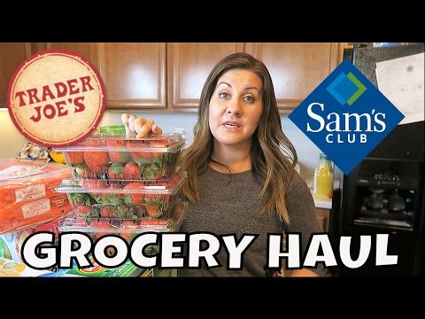 SAM'S CLUB & TRADER JOE'S GROCERY HAUL | $485.00 | PHILLIPS FamBam Hauls
