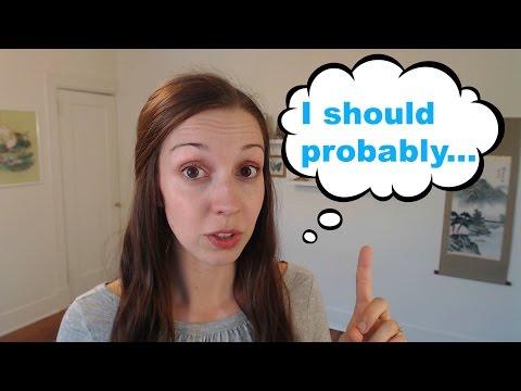 """Speak Politely With """"Should Probably"""""""