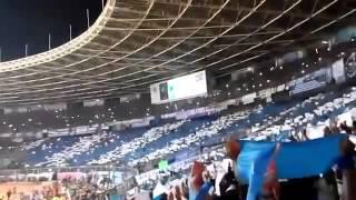 Koreo Bobotoh di Stadion Utama Gelora Bung Karno pada Laga Final Piala Bhayangkara 2016