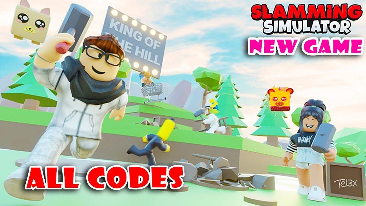 10 New Secret Codes In New Game Slamming Simulator Roblox