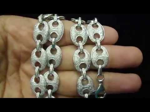 Custom Real Diamond Gucci Link Anchor Style Necklace Item No : GG2345