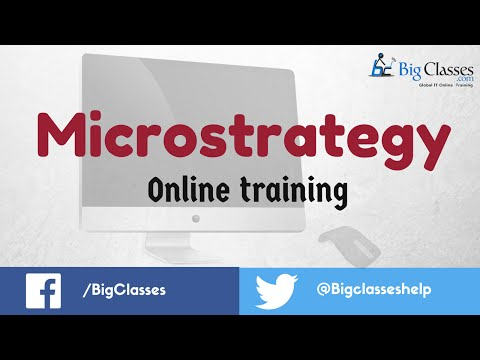 Microstrategy Online Training | Microstrategy Tutorials for Beginners