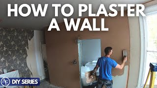 HOW TO PLASTER A WALL | DIY Series | Build with A&E