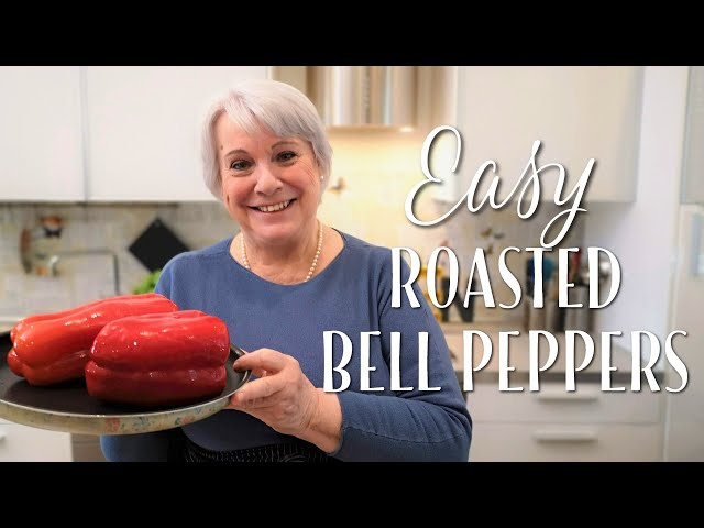 Easy Roasted Bell Peppers - Mamma Giuliana