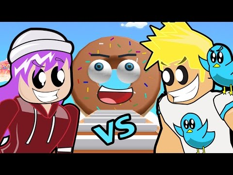 Roblox / Donut Obby Race - Chad Vs. Audrey / Gamer Chad Plays