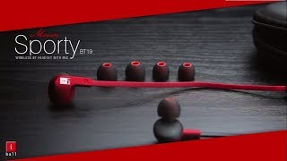 iBall Musi Sporty BT19 Bluetooth Earphone Unboxing amp Review