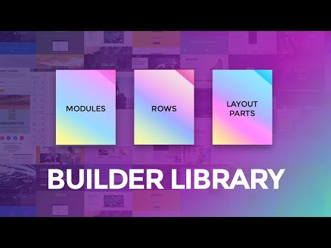Builder Library + Layout Part Live Edit