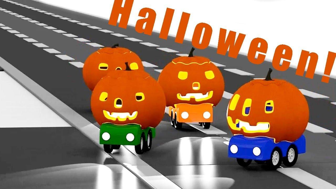 Speciale di halloween delle macchinine colorate cartoni