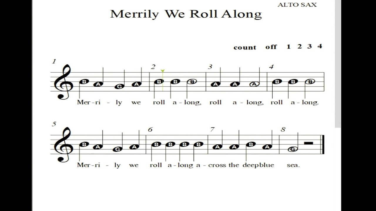 HVB Alto Sax Merrily We Roll Along