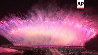 Firework finale as Olympic opening ceremony ends