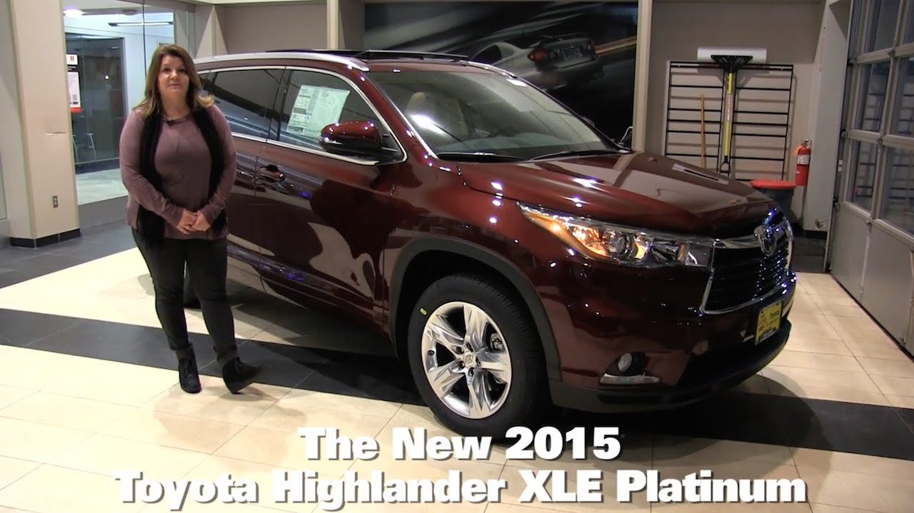 The New 2015 Toyota Highlander Limited Minneapolis St Paul