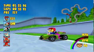 Woody Woodpecker Racing (PS1) - Unlock All Characters (CHAMPIONSHIP MODE)