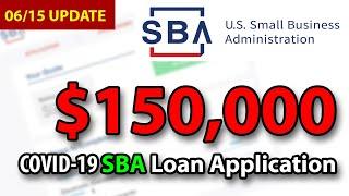 UPDATE: Apply for $150,000 SBA Loan & $10,000 EIDL Advance