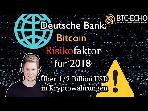 Deutsche Bank: Bitcoin Top-Risikofaktor 2018 | Nächster Meilenstein! | KW 50