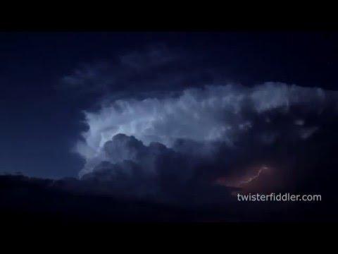timelapse severe weather tornadic thunderstorm Faith South Dakota