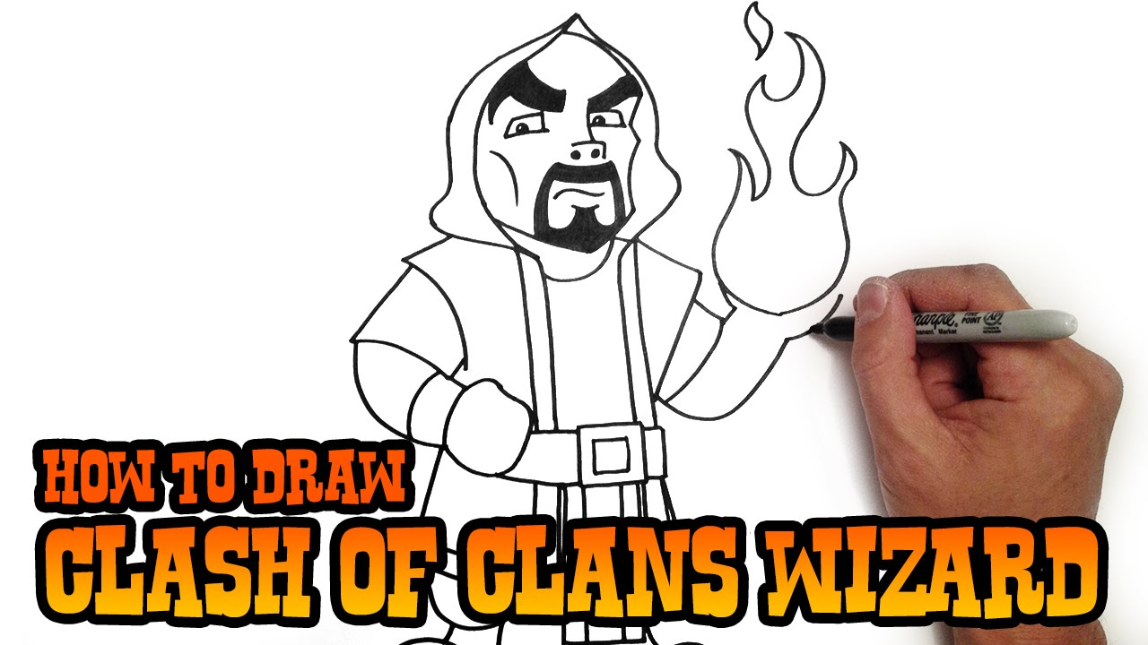 How To Draw Wizard  Clash Of Clans