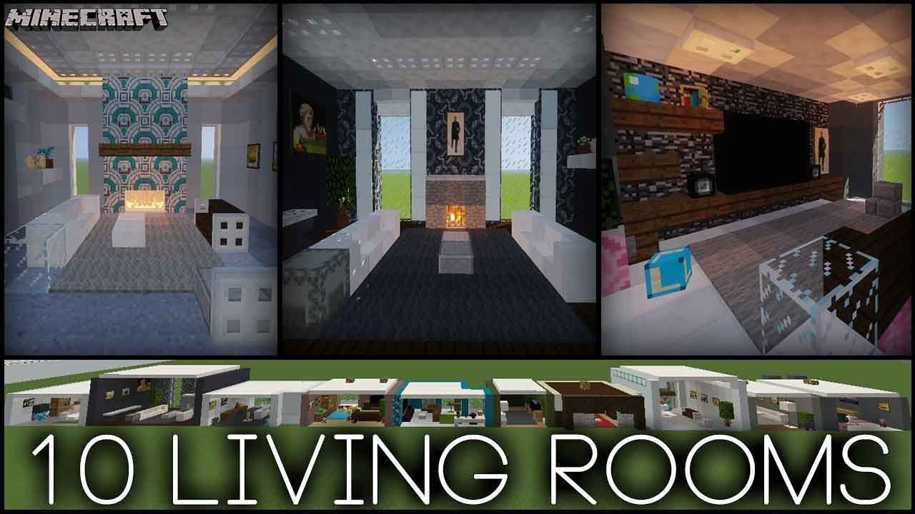 Minecraft - 10 Living Room Designs! (Plus Tips!) - YouTube