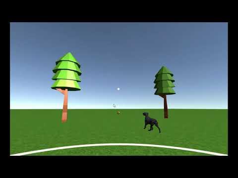 VR dog pet
