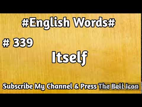 #English#Vocabulary #339 Itself English Word | Learn English Words | Mehran Series