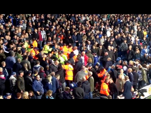 West Brom and Chelsea Fans Fighting