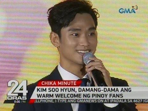 Kim Soo Hyun, damang-dama ang warm welcome ng Pinoy fans