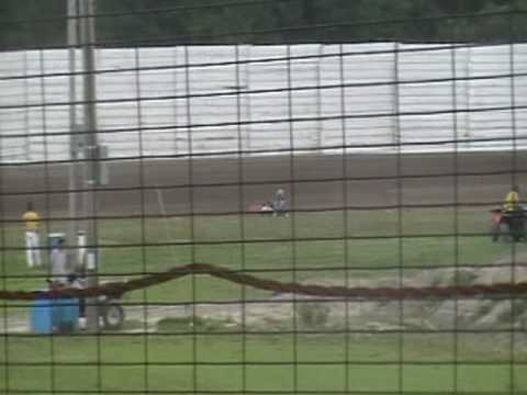 Whip city speedway duel - 2 cycle vs 4 cycle modified kart 5-29-10
