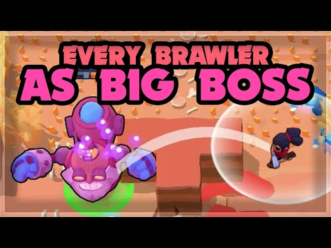 ALL 33 BRAWLERS as BOSS in Big Game - Who's the best?