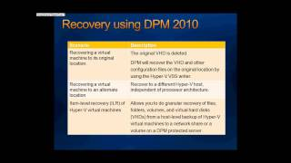 Presentation:- Backup and Recovery for Hyper V R2 - Part 3