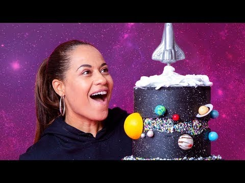 A GALAXY Made Of CAKE  Fault Line Cake  How To Cake It with Yolanda Gampp