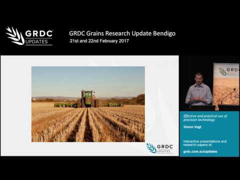 Grains Research Update 2017 | Bendigo | The economics of precision agriculture - S. Vogt