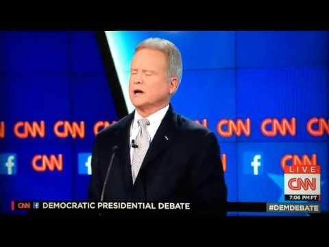 Jim Webb Getting Angry at the Democratic Debate 2015