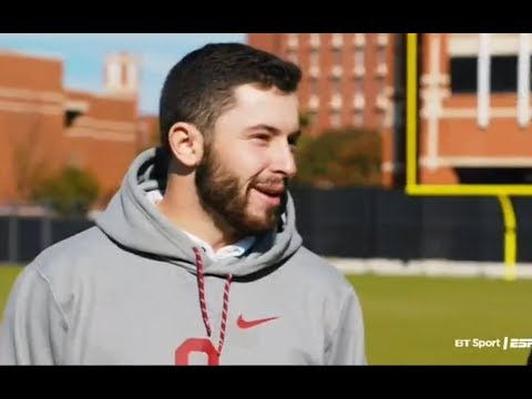 Baker Mayfield at College GameDay 2017 Oklahoma vs Oklahoma State