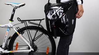 How to use VENZO 600D Polyeste Waterproof Bike Bicycle Rear Pannier Bag