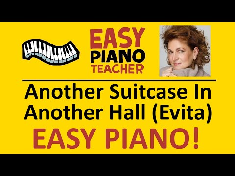 🎹 EASY piano: Another Suitcase In Another Hall keyboard tutorial (from Evita) by #EPT