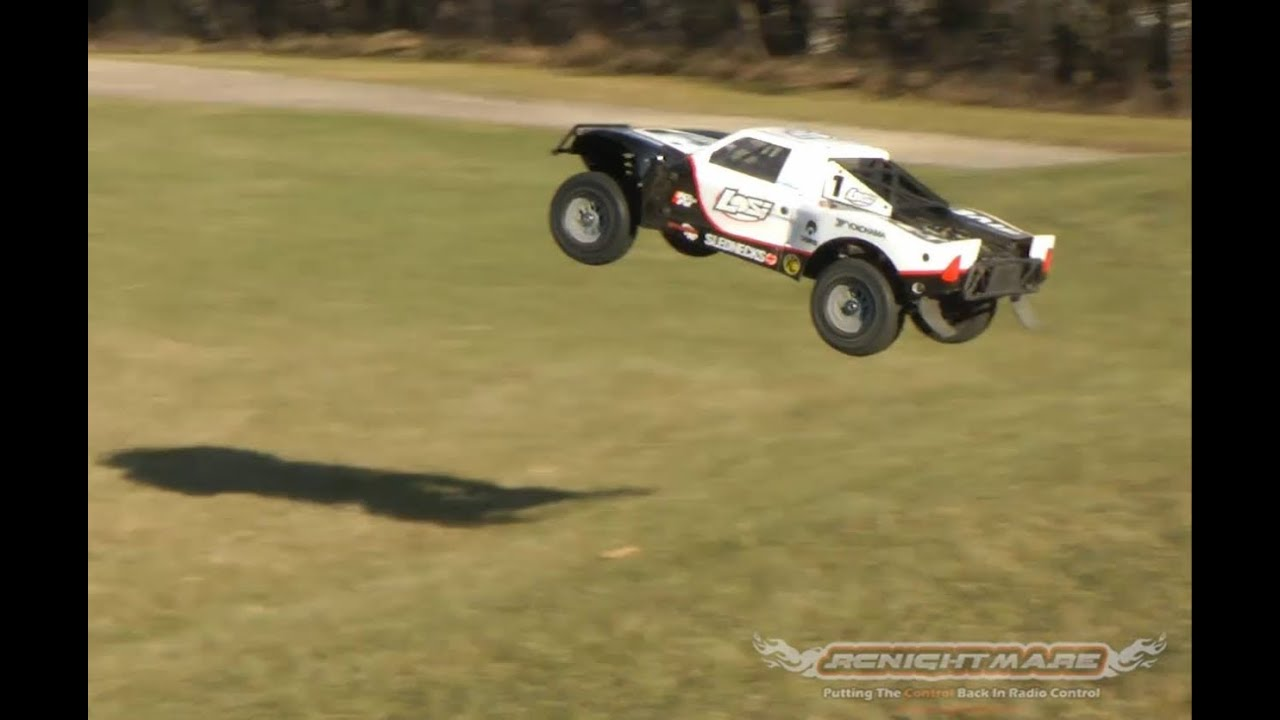 Losi 1 5 5ive T 4wd Sct Running Rc Truck Video Youtube