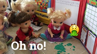 BABY ALIVE: Mariah gets sick at school!