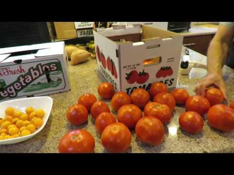 Dehydrating Ripe Organic Tomatoes