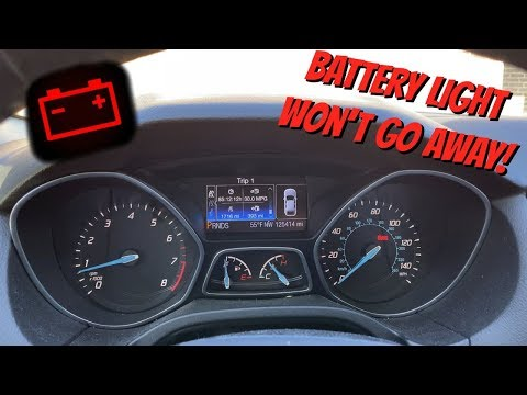 Ford Focus MK3 Red Battery Warning Light On Dashboard - Finally Fixed!!!