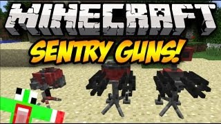 Minecraft: SENTRY GUNS! (TF2) Mod Showcase
