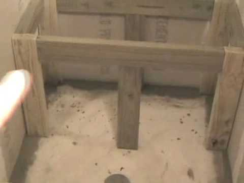 build or building a shower bench - YouTube