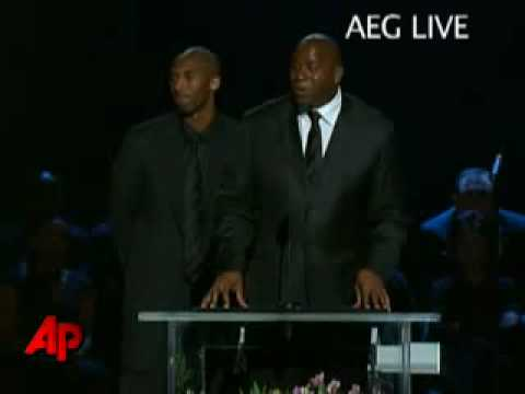 Michael Jackson Memorial  NbaS Kobe Bryant Magic Johnson