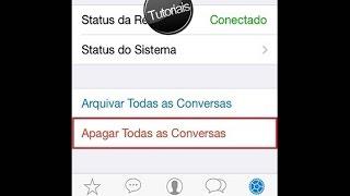 Como apagar o histórico do WhatsApp no IOS e Android